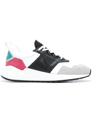 Buscemi colour block sneakers (wit)