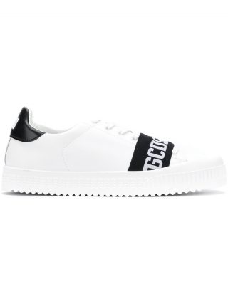 Gcds logo laced-up sneakers (wit)