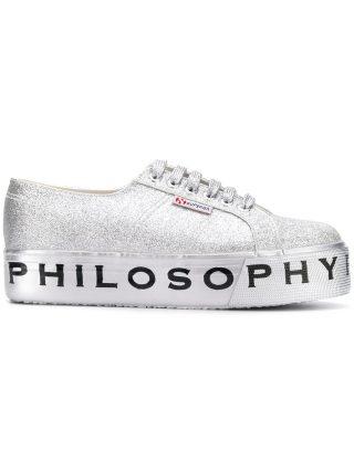 Philosophy Di Lorenzo Serafini Superga flatform glitter sneakers (multicolor)