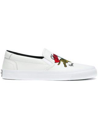 Kenzo slip-on sneakers (wit)