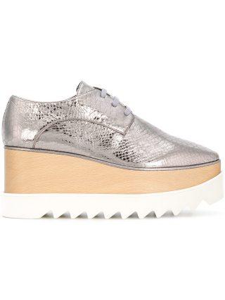 Stella McCartney platform Elyse shoes - Metallic