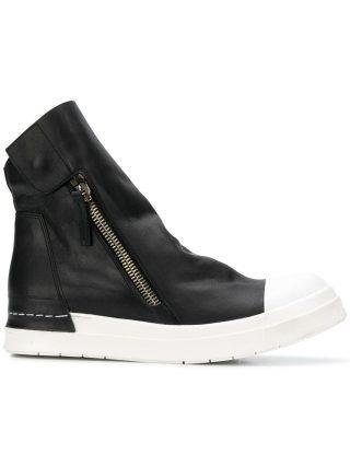 Cinzia Araia ankle length zipped sneakers (zwart)