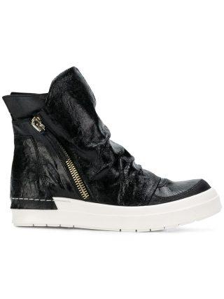 Cinzia Araia hi-top zipped sneakers (zwart)