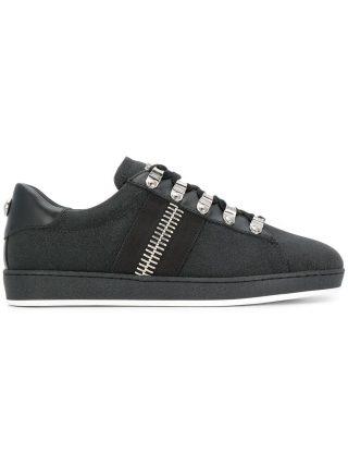 Balmain large zip detail sneakers (zwart)