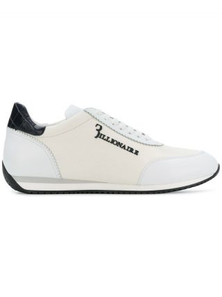 Billionaire leather low-top trainers (wit)