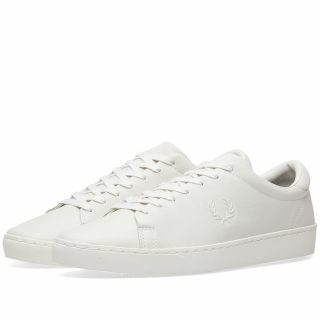Fred Perry Spencer Premium Leather Sneaker (White)