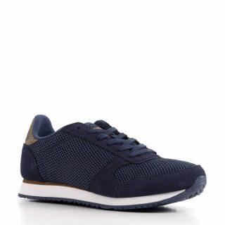 Woden Ydun Mesh NS sneakers met suède (dames) (blauw)