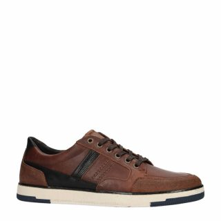 No Stress leren sneakers bruin (heren) (bruin)