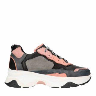 Sacha leren sneakers grijs/roze (dames) (grijs)