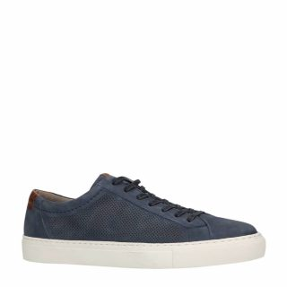 No Stress nubuck sneakers marine (heren) (blauw)