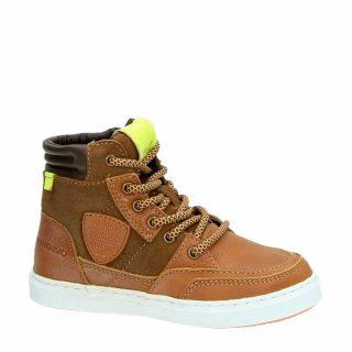 Vingino leren sneakers Mari lichtbruin jongens (bruin)