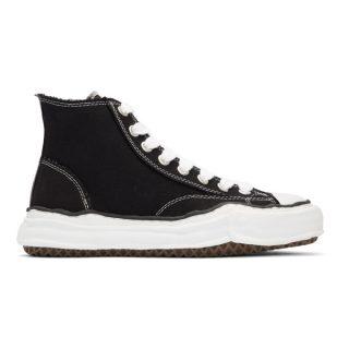 Miharayasuhiro Black Original Sole Canvas Hi-Cut Sneakers