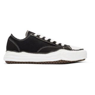Miharayasuhiro Black Original Sole Canvas Sneakers