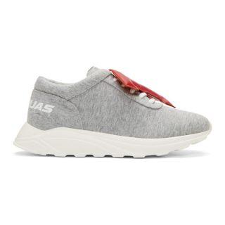 Joshua Sanders Grey LA Letters Sneakers
