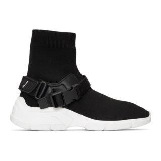 Prada Black Chunky Sole High-Top Sneakers