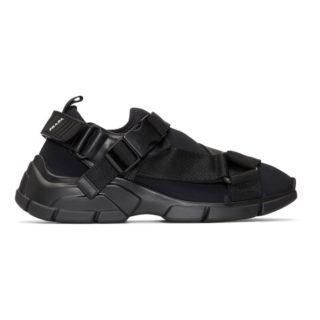 Prada Black Chunky Sole Sneakers