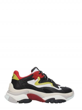 Ash Ash Addict Trainers Black Leather & Red Mesh (zwart)