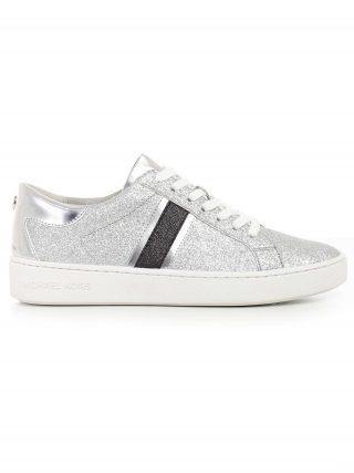 MICHAEL Michael Kors Michael Michael Kors Keaton Glittered Sneakers (zilver/zwart)
