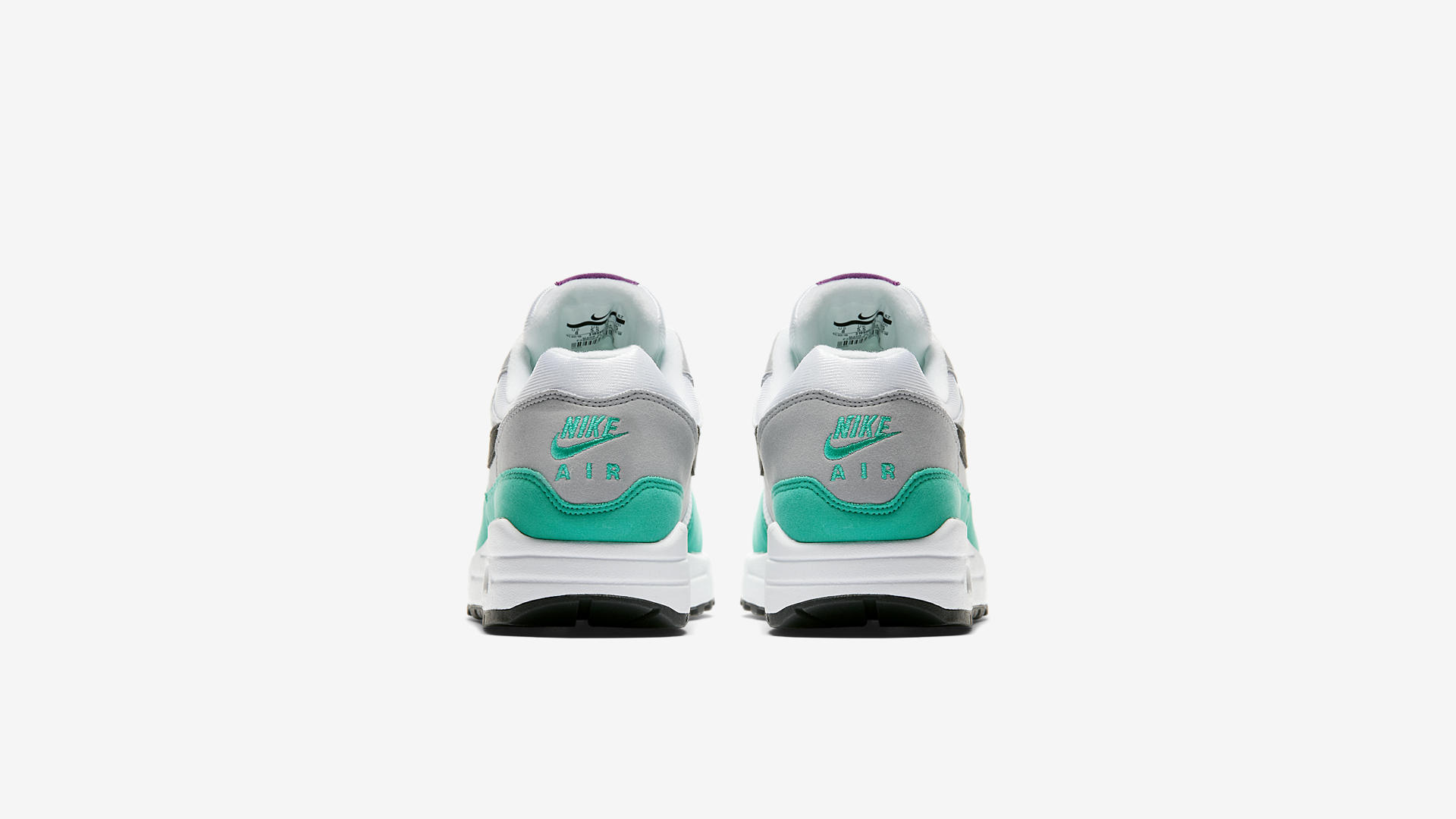 Nike Air Max 1 White/Black-Wolf Grey-Clear Emerald (319986-115)