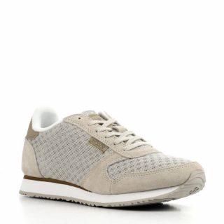 Woden Ydun sneakers met suède (dames) (grijs)