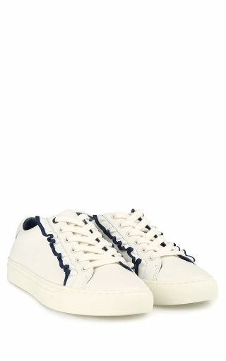 Tory Burch Tory Burch Tory Sport Ruffle-tim Leather Sneakers (Overige kleuren)