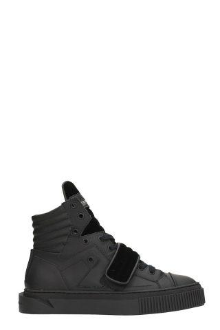 Gienchi Gienchi Hypnos Black Rubber And Velvet Sneakers (zwart)