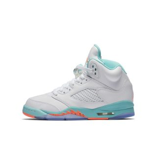 Air Jordan 5 Retro Kinderschoen - Wit Wit