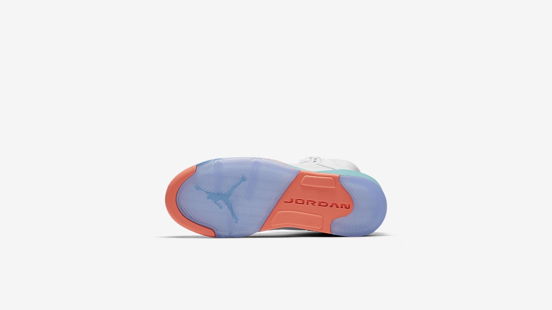 Air Jordan V 'Light Aqua' Wit/Light Aqua/Zwart/Crimson Pulse (440892-100)