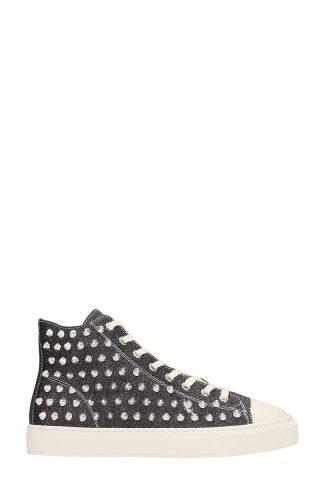 Gienchi Gienchi Jean Michel Black Glitter Sneakers (zwart)