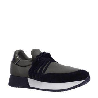 Manfield suède sneakers (groen)