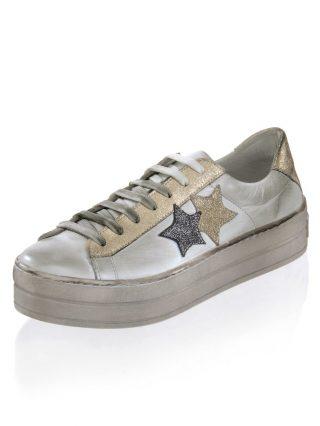 Sneaker Alba Moda wit/grijs/goudkleur