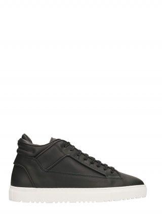 Etq Etq Mid 2 Black Leather Sneakers (zwart)