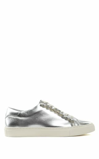 Tory Burch Tory Burch Tory Sport Ruffle-trim Laminated-leather Sneakers (Overige kleuren)