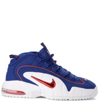 Nike Nike Air Max Penny Red And Blue Leather Sneaker (multicolor)