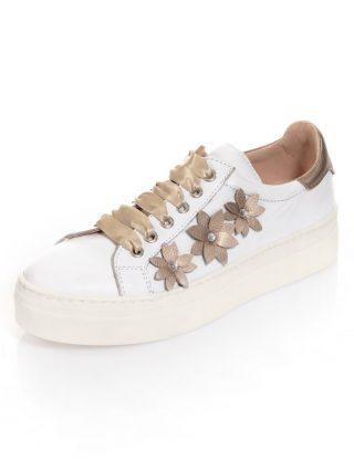 Sneaker Alba Moda wit/platinakleur