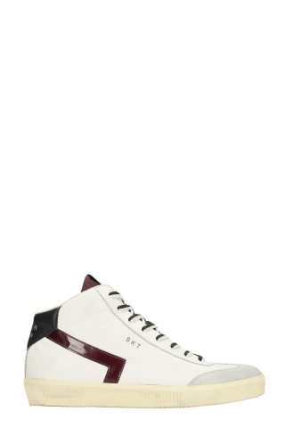 Leather Crown Leather Crown High Skt White Leather Sneakers (wit)