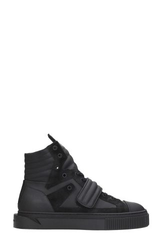 Gienchi Gienchi Hypnos Black Rubber And Suede Sneakers (zwart)