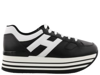 Hogan Hogan Maxi H222 Sneakers (zwart/wit)