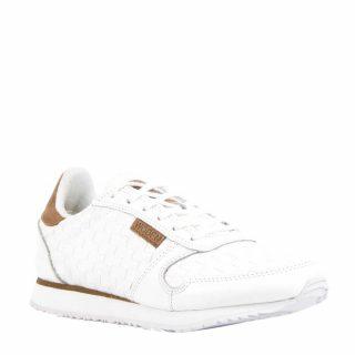Woden Ydun leren sneakers (dames) (creme)