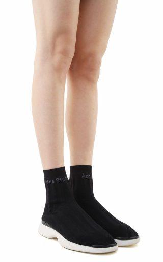 Acne Studios Acne Studios Batilda Black As Sock High-top Sneakers (Overige kleuren)