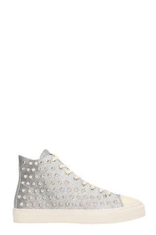 Gienchi Gienchi Jean Michel Silver Glitter Sneakers (zilver)
