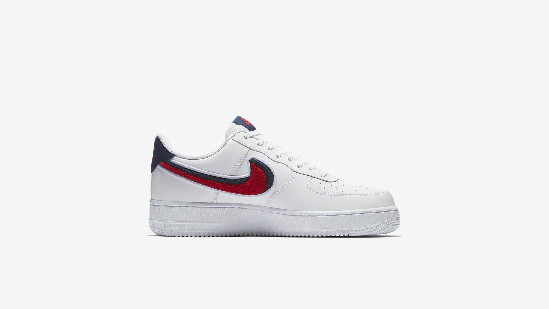 Nike Air Force 1 '07 LV8 White/University Red-Blue Void (823511-106)