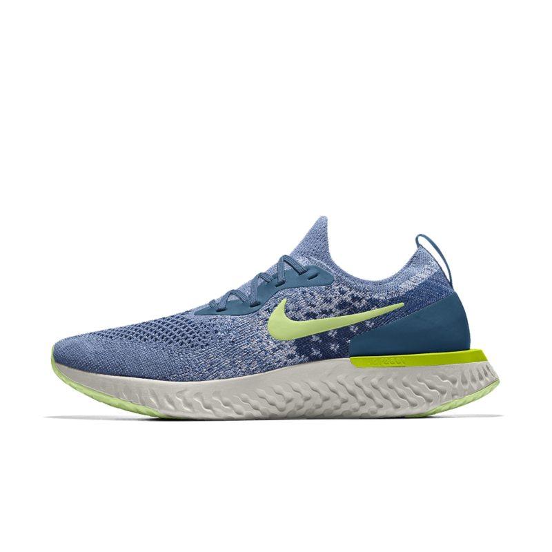 Nike Epic React Flyknit iD Hardloopschoen voor heren - Blauw Blauw