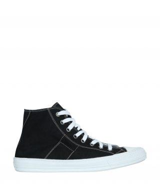 Maison Margiela Maison Margiela Black Canvas Stereotype High-top Sneakers (zwart)