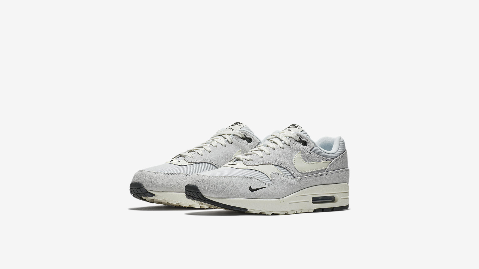 Nike Air Max 1 Premium Pure Platinum / Sail – Black – White (875844-006)