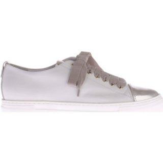 Agl Witte Sneakers Met Zilveren Lak