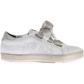 P448 Witte Ralph Sneaker Met Striklint