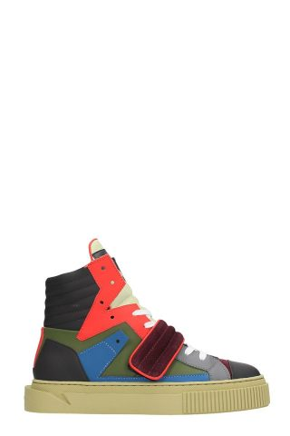 Gienchi Gienchi Hypnos Multicolor Leather And Suede Sneakers (multicolor)