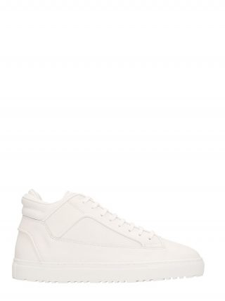 Etq Etq Mid 2 White Leather Sneakers (wit)