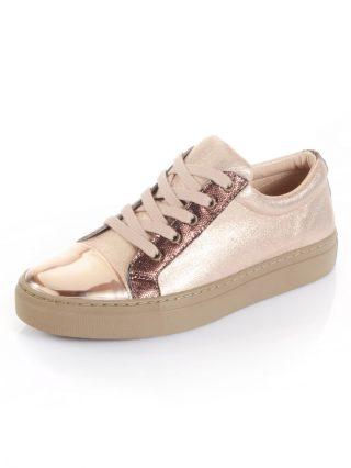 Sneaker Alba Moda goudkleur/roze